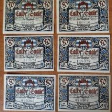 Lots de Billets: ALEMANIA. 6 BILLETES NOTGELD STADT CALBE AD SAALE (SERIE COMPLETA). SIN CIRCULAR!!!. Lote 286971168