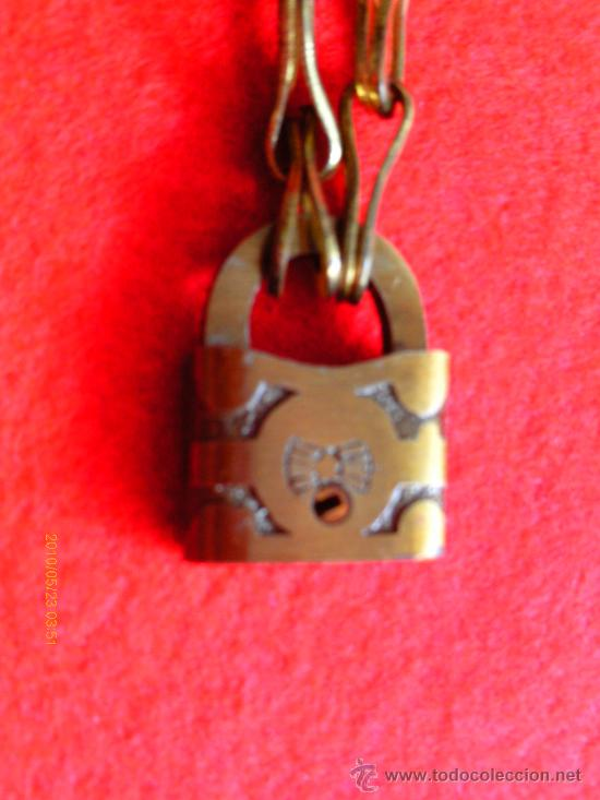 Joyeria: CADENA CON CANDADO y dos llaves - s. XIX - Foto 2 - 29943057