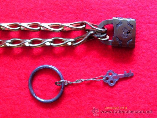 Joyeria: CADENA CON CANDADO y dos llaves - s. XIX - Foto 3 - 29943057