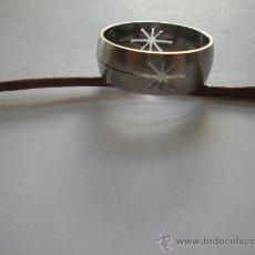 Joyeria - anillo de acero calado, diametro interior 20 mm. - 30800545