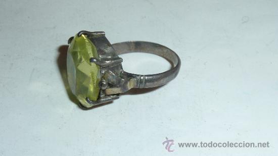 Joyeria: Lote de broche y dos anillos antiguos, uno en plata. - Foto 4 - 32324261
