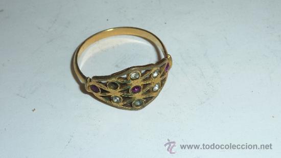 Joyeria: Lote de broche y dos anillos antiguos, uno en plata. - Foto 5 - 32324261