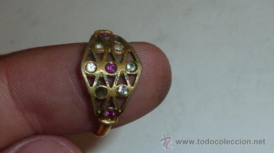 Joyeria: Lote de broche y dos anillos antiguos, uno en plata. - Foto 6 - 32324261