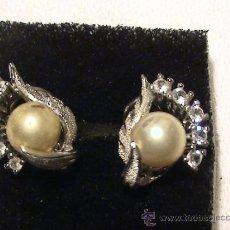 Schmuck - Antiguos pendientes en plata con perla y circonitas - 32587149