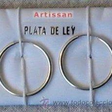 Joyeria: CLÁSICOS AROS DE PLATA DE LEY - TAMAÑO 1.7 CM DE DIAMETRO APROXIMADAMENTE. Lote 179191847