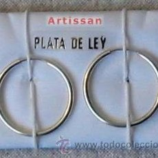 Joyeria: CLÁSICOS AROS DE PLATA DE LEY - TAMAÑO 2 CM DE DIAMETRO APROXIMADAMENTE. Lote 179191795