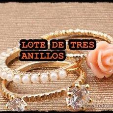 Joyeria: BONITO TRIO DE ANILLOS. Lote 34447501