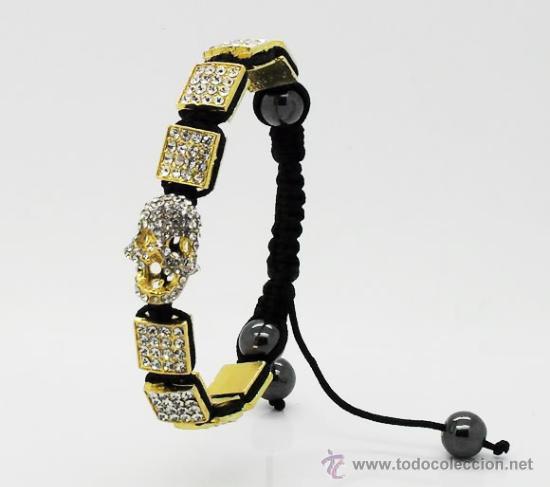 bonita pulsera esqueleto, calavera, color oro c - Comprar Bisuteria ...