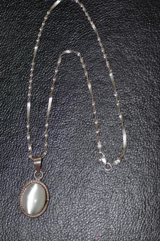 42e5b101db90 cadena de plata con colgante de piedra luna - Comprar Bisuteria en ...