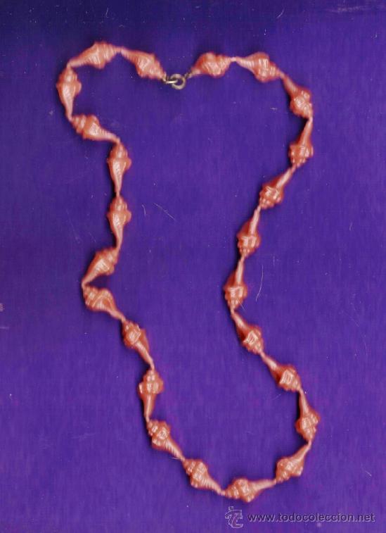 6ea1b7ea9385 bisuteria - collar / gargantilla - infantil - caracolas de plastico - sin  estrenar - años 70