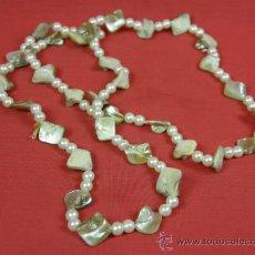 Schmuck - collar nacar madreperla y abalorios imitación perla años 80 - 37121477