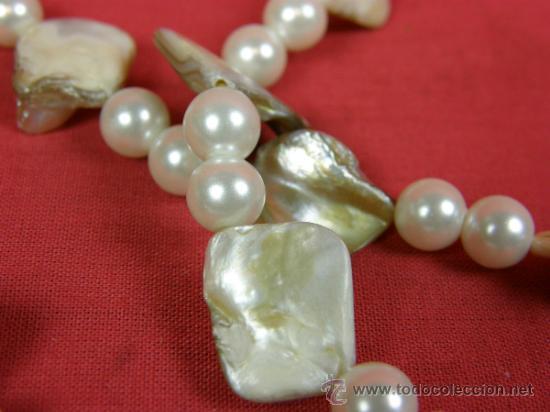 Joyeria: collar nacar madreperla y abalorios imitación perla años 80 - Foto 5 - 37121477