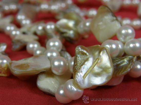 Joyeria: collar nacar madreperla y abalorios imitación perla años 80 - Foto 3 - 37121477
