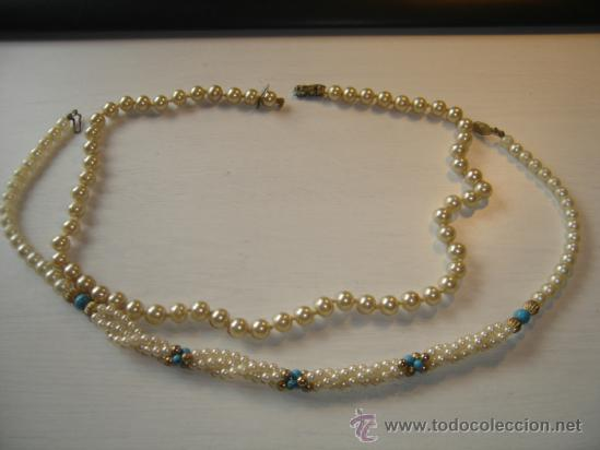 61b1d79a2dc4 bisuteria años 30.perlas. 2 collares de perlas - Comprar Bisuteria ...