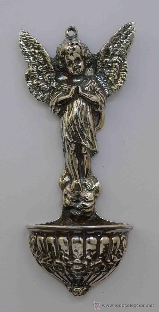 BENDITERA ANGEL PLATA DE LEY. - SILVER ANGEL. (Bisutería)