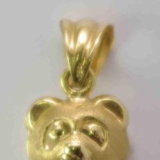 Joyeria: OSO COLGANTE ORO 18 QUILATES. - GOLD LEAF BROOCH 18KTS. AND A BRIGHT. Lote 37667920