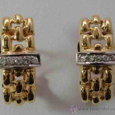Joyeria: PENDIENTES ORO 18 QUILATES Y BRILLANTES - EARRINGS 18 CARAT GOLD AND DIAMONDS. Lote 37675439