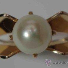 Joyeria: SORTIJA ANILLO ORO 18 QUILATES PERLA CULTIVADA - 18 CARAT GOLD RING CULTURED PEARL. Lote 38119426
