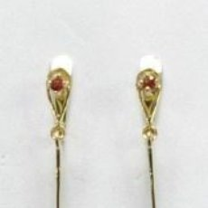 Joyeria: PENDIENTES ORO 18 QUILATES Y GRANATES - 18 CARAT GOLD EARRINGS AND GARNETS. Lote 38883464