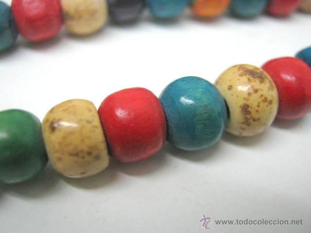 Joyeria: Antiguo collar extra largo - traje regional tribal étnico - cuentas discos multicolores - Foto 5 - 40014191