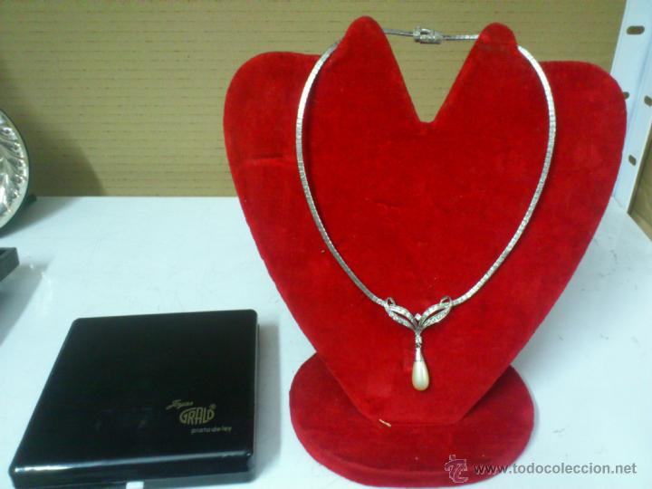 67ab062fa974 collar gargantilla de plata con perla majorica. - Comprar Bisuteria ...