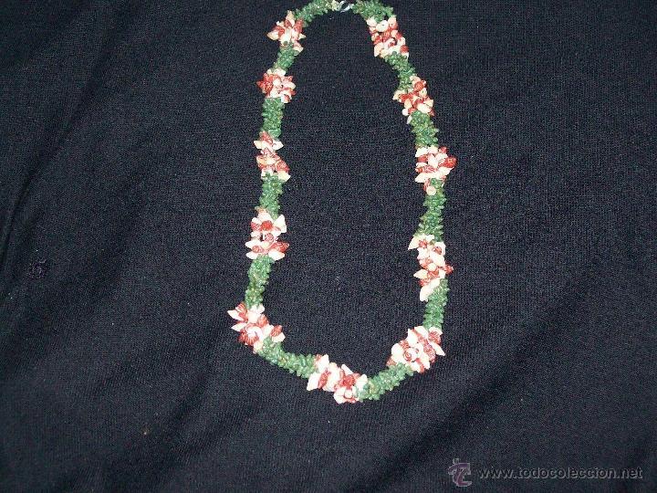 Joyeria: collar caracolas pintadas 55cm años 50-60 - Foto 2 - 40985102