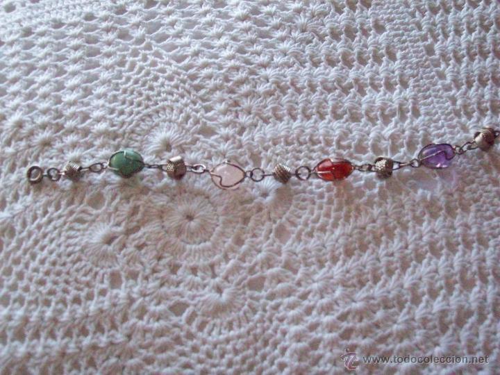 Joyeria: Pulsera brazalete piedras colores 19,50 cm - Foto 3 - 41755194