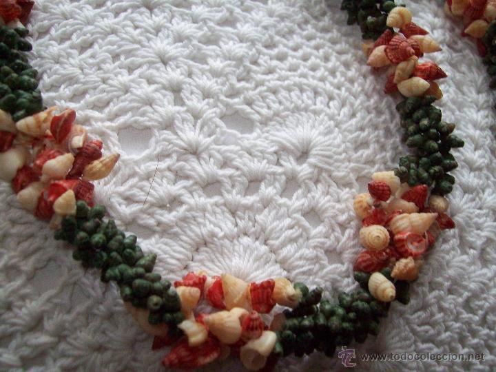 Joyeria: collar caracolas pintadas 55cm años 50-60 - Foto 4 - 40985102