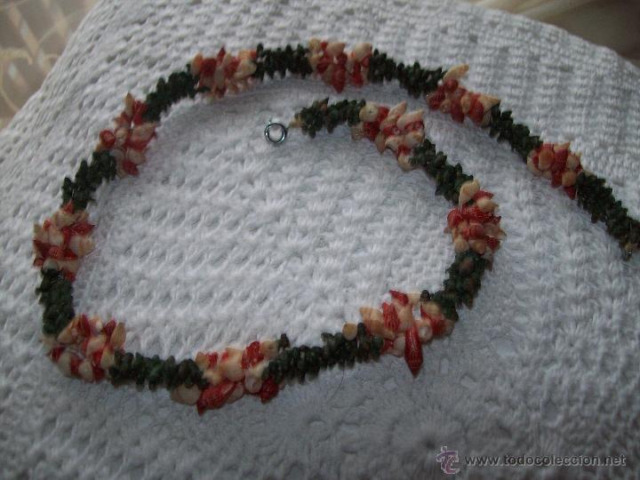 Joyeria: collar caracolas pintadas 55cm años 50-60 - Foto 6 - 40985102