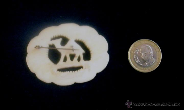 Joyeria: Broche de hueso, 5,5 x 4 cm - Foto 2 - 42688170