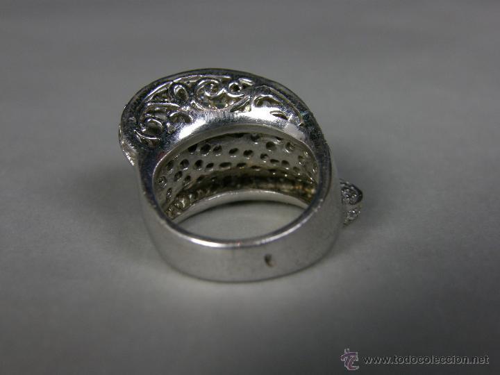 2e7b6df449b9 Joyeria  anillo de plata marca 925 y sello orfebre vidrios o circonitas  tallados brillantes peso