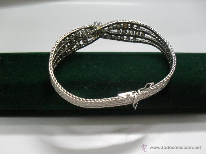 Joyeria: pulsera oro blanco y brillantes - Foto 2 - 43703282