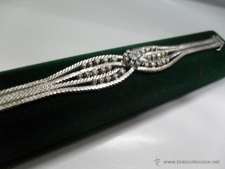 Joyeria: pulsera oro blanco y brillantes - Foto 3 - 43703282