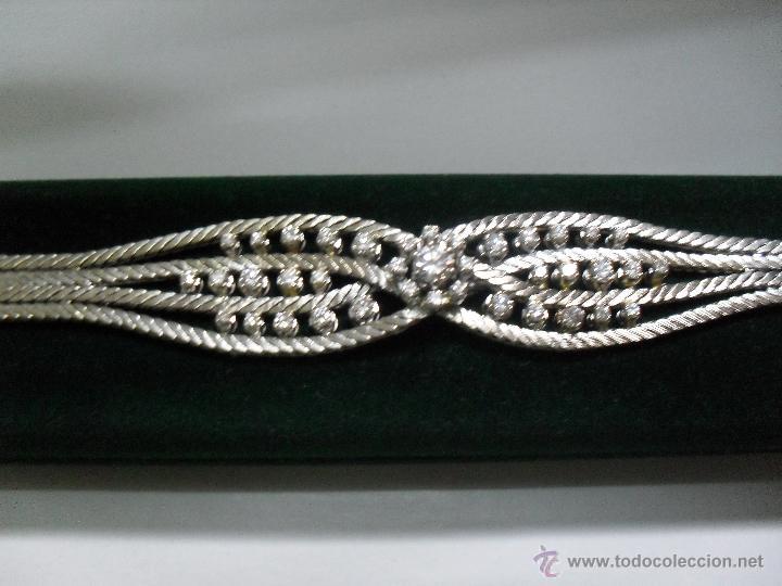 Joyeria: pulsera oro blanco y brillantes - Foto 5 - 43703282