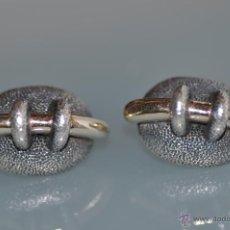 Schmuck - pendientes de diseño de plata contrastados 960 y firmados , cierre omega - 43959268