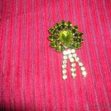 Schmuck - Broche vintage,cristales verdes - 44891098