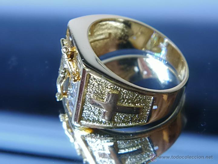 Joyeria: Anillo de oro laminado 18k de 6,10 gramos,Jesus en la cruz - Foto 2 - 52721488
