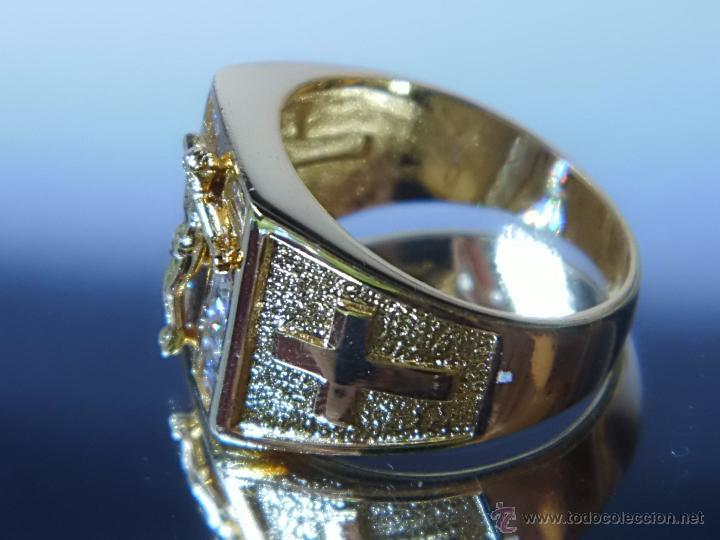 Joyeria: Anillo de oro laminado 18k de 6,10 gramos,Jesus en la cruz - Foto 4 - 52721488