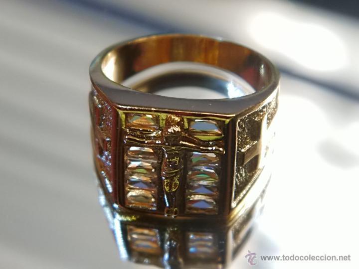 Joyeria: Anillo de oro laminado 18k de 6,10 gramos,Jesus en la cruz - Foto 5 - 52721488