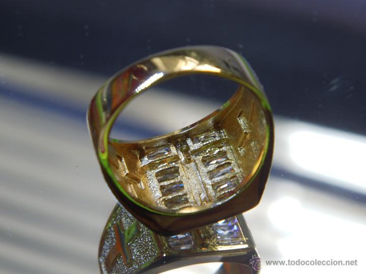 Joyeria: Anillo de oro laminado 18k de 6,10 gramos,Jesus en la cruz - Foto 6 - 52721488