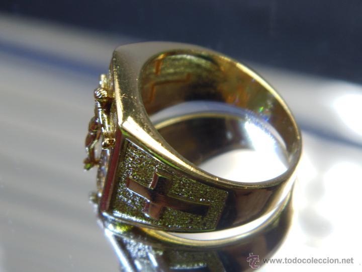 Joyeria: Anillo de oro laminado 18k de 6,10 gramos,Jesus en la cruz - Foto 7 - 52721488