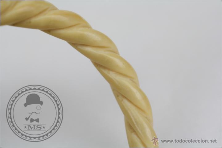 Joyeria: Precioso Brazalete / Pulsera de Marfil o Hueso - Tallado a Mano - Diámetro Interior 63 Mm - Foto 3 - 144335224