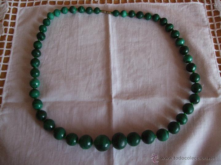 2d2a02a5a213 vintage collar perlas verdes . malaquita - Comprar Bisuteria en ...