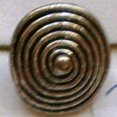 Joyeria: ANILLO PLATEADO REDONDO FORMA ESPIRAL - TALLA UNIVERSAL. Lote 45785799