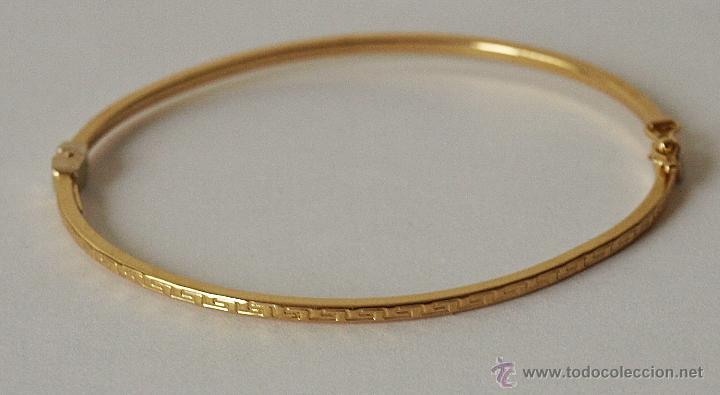 b357972924dd pulsera esclava de oro de 18 k con greca grabad - Comprar Bisuteria ...