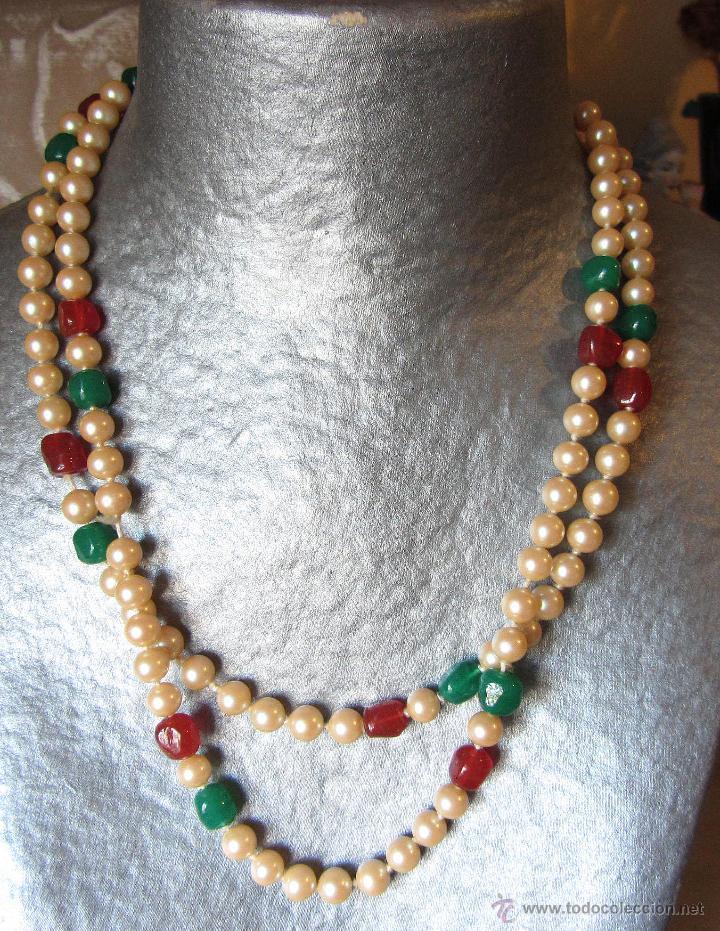 3f6ba5156e39 Collar de perlas tipo majórica con cristales de - Vendido en Venta ...
