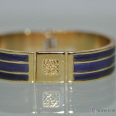 Joyeria: PULSERA ORIGINAL LOEWE MADE IN SPAIN , METAL DORADO Y PIEL , VINTAGE . Lote 47134128