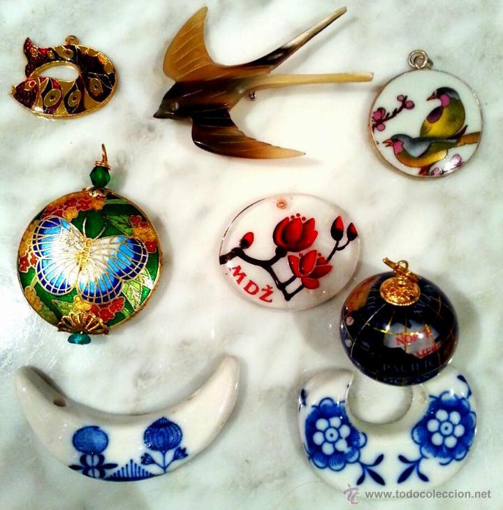 coleccin colgantes vintage porcelana japonesa floral pez globo terraqueo mariposa orientales