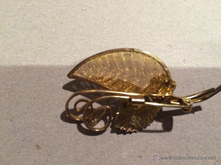 Joyeria: Antiguo broche vintage chapado en oro, aguja de pecho - Foto 2 - 47927542