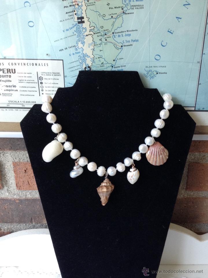 81f70c75c11d Joyeria  Precioso collar de perlas y conchas naturales - Foto 2 - 48273368